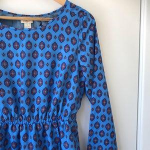 J. Crew Blue Medallion Tulip Dress Size 4